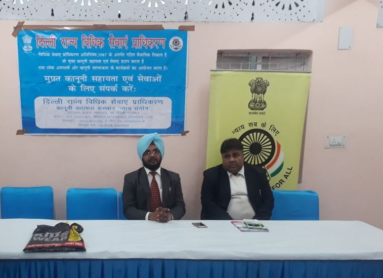 Legal Awareness Programme at RWA, Janakpuri, on 12.01.2018