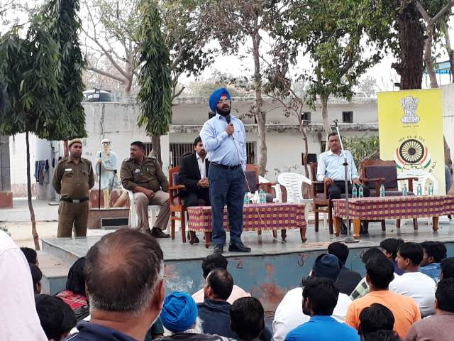 Providing legal aid to inmates of  Tihar Jail