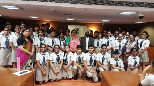 Visit of students of Sachdeva Global School  to Dwarka Courts