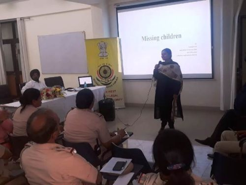 """Half Day training workshop on the topic """"Missing Children"""""""