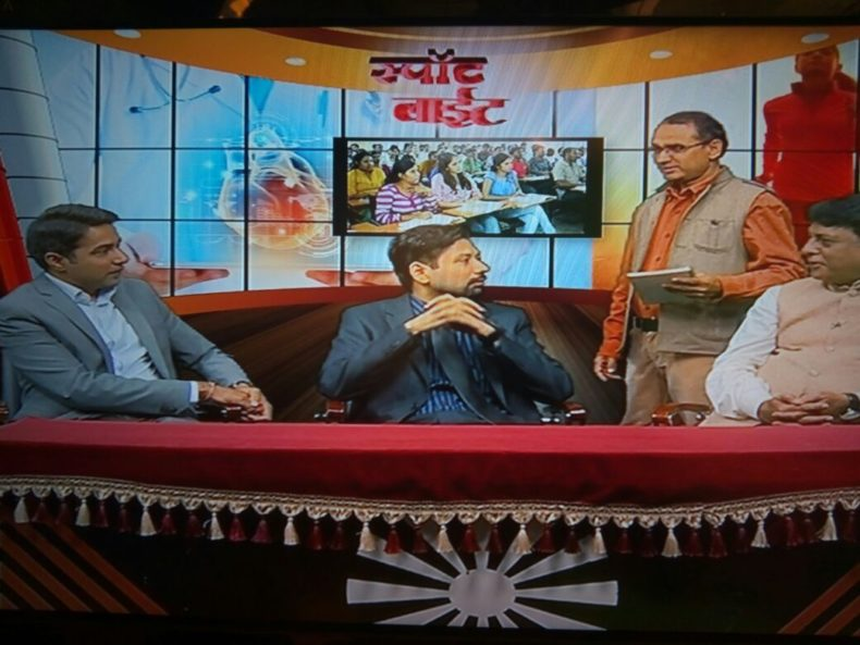 """Campaign """"Connecting to Serve"""" launched by NALSA, Central & West DLSA jointly legal awareness programme on 10.11.2017 at DISHA Tv"""