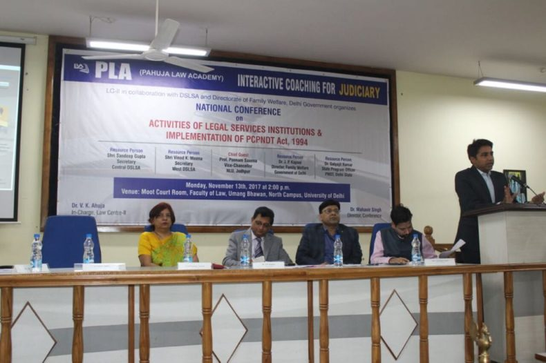 Participated in *National Conference on Activities of Legal Services Institutions & Implementation of PC & PNDT Act*