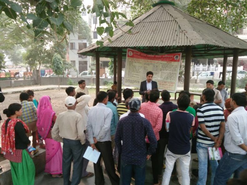 """In the observance of Nationwide Campaign """"**Connecting to Serve**"""" 09 Nov – 18 Nov), West DLSA organised *Legal Awareness Programme* at Slum area adjacent to *Outram Lanes, Delhi*"""
